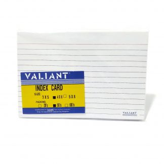Index Card Valiant 4x6 50 pcs
