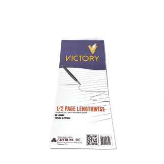 Victory 1/2 Page Lengthwise 60gsm 100 mm x 250mm 7.5mm x 30 line 80 leaves