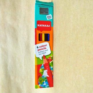 Coloring Pencils (6) with sharpener - Nataraj