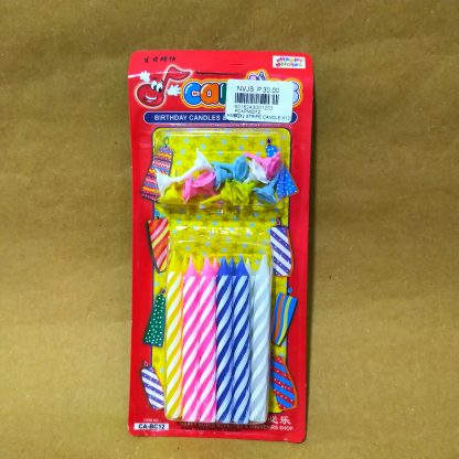 2 stripes birthday candle from supplies.com.ph
