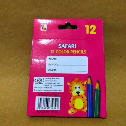 Coloring Pencils (Safari 12 colors) Supplies Delivery Back