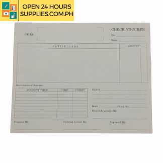 A photo of Check Voucher 8 x 6 Inch.