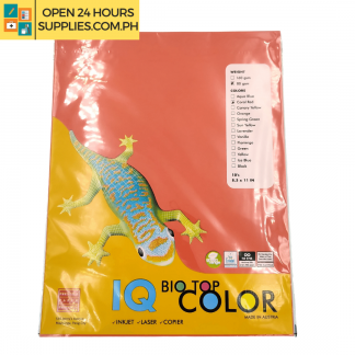 A photo of IQ Biotop 8.5 x 11 10 Sheets - Red