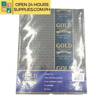 Gold International ( Film carbon) Guaranteed for more clear copies 8 1/2 x 11 216mm x280mm Color: Blue 10 Sheets