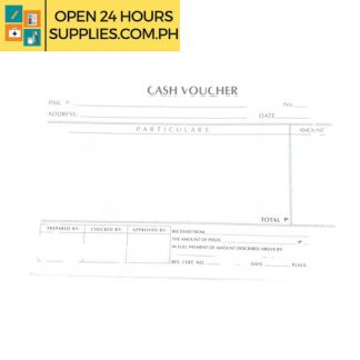 Cash Voucher Document petty cash transactions
