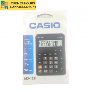 A photo of Casio Calculations MX -12B -BK Extra Large Display - Black