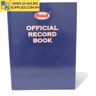 A photo of (Vision) Official Record Book 300 pages 216 x 279 mm - Blue