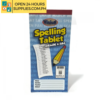 A photo of Vision Spelling Tablet Grade 4,5, and 6 40 Leaves 99 mm x 210 mm