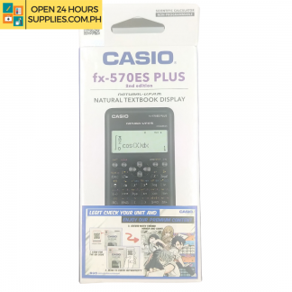 A photo of Casio Calculations FX 570 ES Plus 2nd Edition Natural Text Book Display - Black