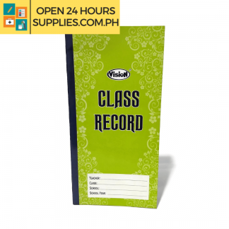 A photo of Vision Class Record 140 mm x 279 mm 230 gsm 30 leaves - Green