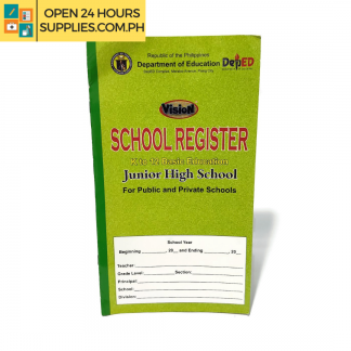 A photo of Vision School Register K to 12 Basic Education 173 mm x 306 mm - Green