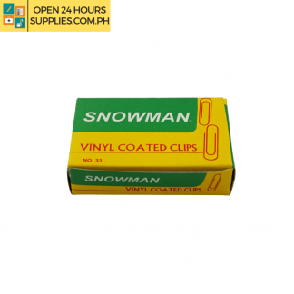 A photo of Snowman Vinyl Coated Clips
