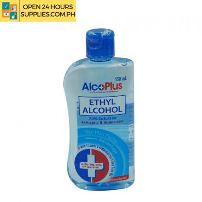 A photo of AlcoPlus Ethyl Alcohol 70% Solution 150ml