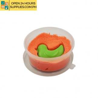 A photo of kinetic sand clay orange