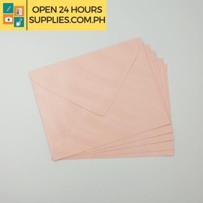 A close up photo of Fleur De Liz Scented Baronial Envelopes Pink