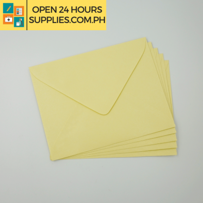 A close up photo of Fleur De Liz Scented Baronial Envelopes Yellow