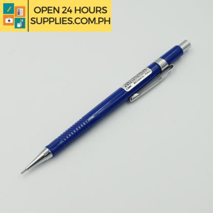 A close up photo of HBW Mech Pencil Blue