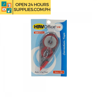 A photo of HBW Office 5mm 12m Correction Tape Red