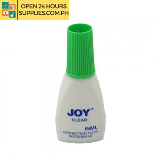 A photo of Joy Clear Correction Fluid Waterbase 15ml