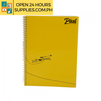 A photo of Pixel Spiral Notebook 80 leaves 148mm x 200mm Yellow